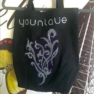 Younique small canvas tote brand new